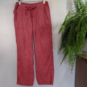 PrAna Red Stripe Pant - Wide Leg Relaxed 6